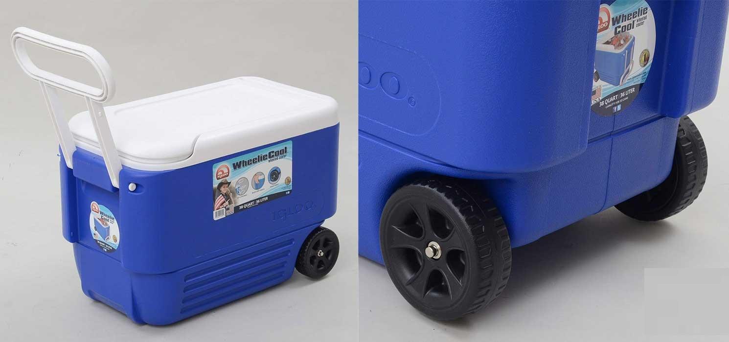 یخدان پلاستیکی چرخدار