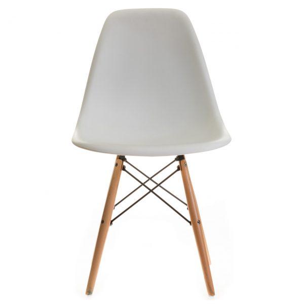 صندلی پلاستیکی پایه چوبی